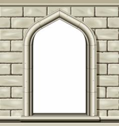 arched window frame vector image vector image