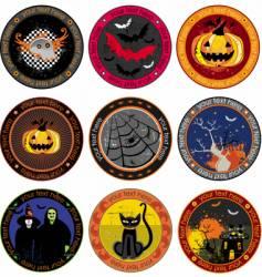 Halloween drink coasters vector image vector image