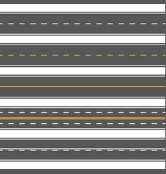 horizontal straight seamless roads modern asphalt vector image