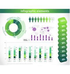 logistics infographic transportation statistic vector image vector image