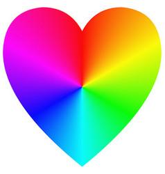 Rainbow gradient happy heart icon template vector image vector image