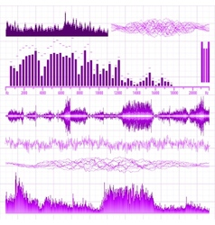 sound waves elements vector image