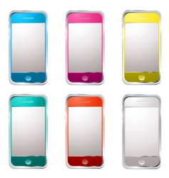 techno phone variation vector image vector image
