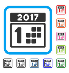 2017 year first day framed icon vector