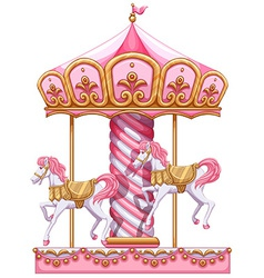 A carousel ride vector