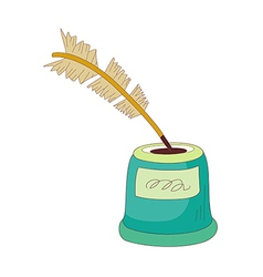 A quill in the pot vector