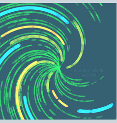 Abstract green lines swirl motion concepts vector