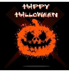 Abstract pumpkin Halloween vector image