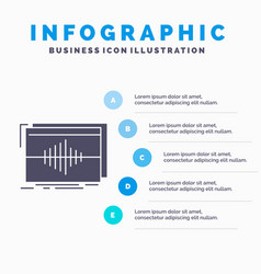 Audio frequency hertz sequence wave infographics vector