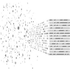 big data concept binary matrix code artificial vector image
