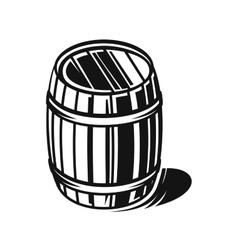 black barrel vector image
