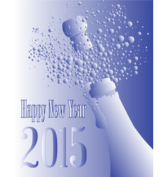 blue and white bottle 2015 vector image