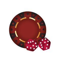 Casino poker roulette dices gamble vector