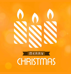 chrismtas card with candles vector image