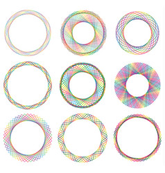 Colorful circle border frame vector