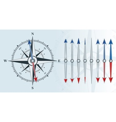 compass with similar arrows vector image
