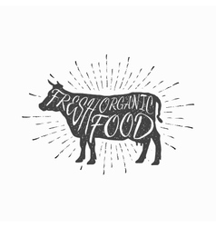 Cow Farm animal icon butchery concept isolated vector image