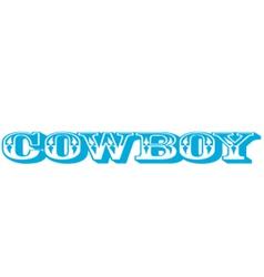 Cowboy type vector