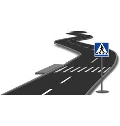 Crosswalk stripes on road vector image