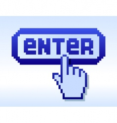 cursor and enter vector image