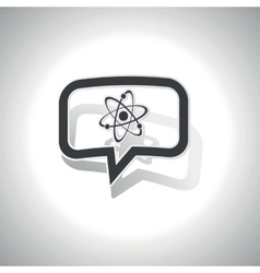 Curved atom message icon vector