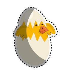cute bird nest icon vector image