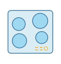Electric induction hob color icon vector