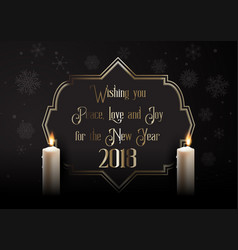 elegant happy new year background with candles vector image