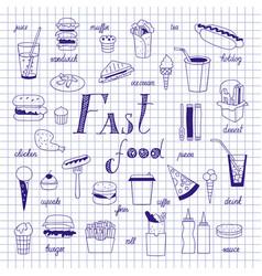 fast food sketch vector image