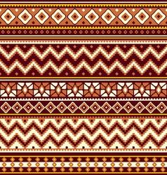 folk geometric ornament vector image