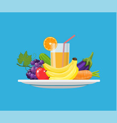 food choice concept fresh vegetables vector image