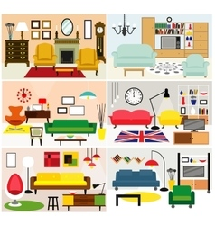 Furniture ideas for living room vector image