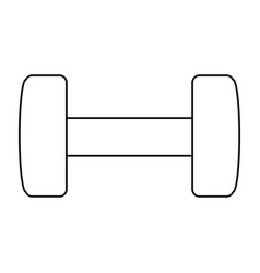 Gym dumbbell weigth vector
