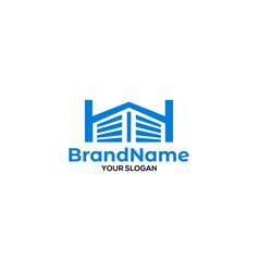 H storage logo design vector