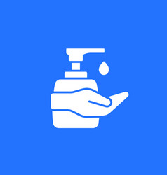 Hand sanitizer antibacterial gel icon vector
