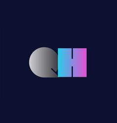 initial alphabet letter qh q h logo company icon vector image