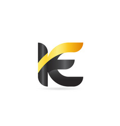 joined or connected ie i e yellow black alphabet vector image
