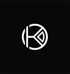 k circle logo vector image