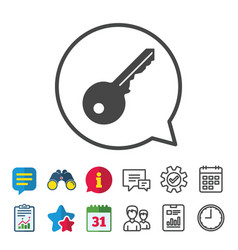 Key sign icon unlock tool symbol vector