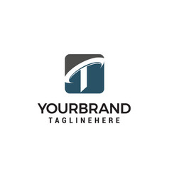 letter t company logo design concept template vector image