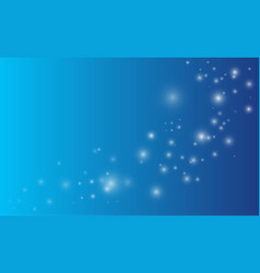 lights on blue background magic concept vector image