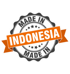 Made in indonesia round seal vector