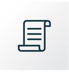 manuscript icon line symbol premium quality vector image