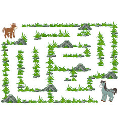 maze game for children horse vector image