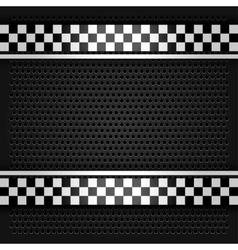 Metallic perforated sheet gray vector image