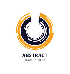 modern corporate abstract circle vector image