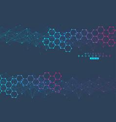 Modern futuristic background of the scientific vector