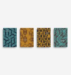 modern halftone shapes minimal geometric covers vector image