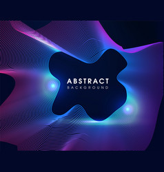 Modern party wave abstract background vector