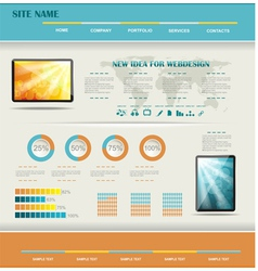 modern web site editable template vector image
